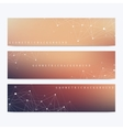 Modern set of banners Geometric abstract vector image vector image