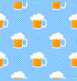 mug beer with foam and decorative flag vector image vector image