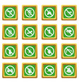 no insect sign icons set green vector image vector image