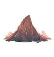 old brown mountain isolated vector image