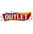 outlet banner design vector image vector image