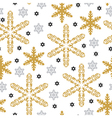 pattern gold snow vector image vector image