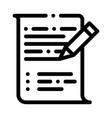 pen writing on paper list agile element vector image