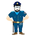 Police in form vector image vector image