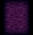 purple rectangle brick wall vector image vector image