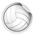 round sticker with volleyball ball vector image vector image