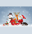 santa with christmas template vector image vector image