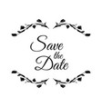 save date wedding invitation template vector image