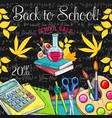 school sale poster of student supplies discount vector image vector image