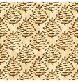 Seamless Cones of Coniferous Tree vector image