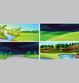 set nature background vector image