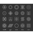 Set of geometric hipster shapes455 vector image vector image