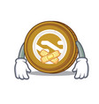 silent nxt coin mascot cartoon vector image vector image