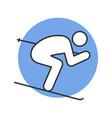 skier color icon vector image vector image