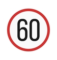 Speed limit 60 vector image vector image