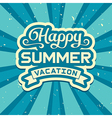Summer vacation vector image vector image