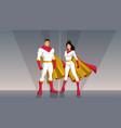 superhero couple asian vector image vector image