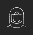 surgical helmet chalk white icon on black vector image