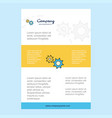 template layout for gear comany profile annual vector image vector image