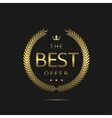 The best offer vector image vector image