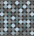 tile pattern with blue and grey polka dots vector image vector image