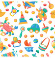 toy collection for babies seamless pattern vector image