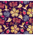 tropical flowers with bananas vector image vector image