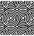 Two-color spiral patterns Seamless pattern vector image