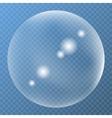 Unique bubble with glare icon vector image