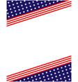 usa flag symbols background frame border vector image vector image
