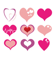 Various heart set vector image vector image