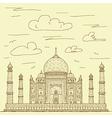vintage hand drawn of famous tourist destination vector image vector image