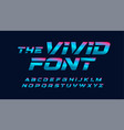 vivid cyberpunk letters set blue and pink vector image
