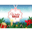 winter sale tag banner red sale tag vector image
