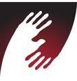 yin yang hand print vector image vector image