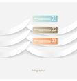 Abstract Origami Style Paper InfograficsAbstract O vector image
