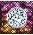 Colorful background with disco ball vector image