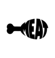 Monochrome meat stylized a silhouette with the vector image