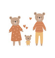a cute bear family vector image vector image