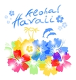 Aloha Hawaii Background vector image vector image