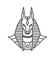anubis logo line art outline monoline