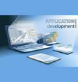 application development for different platforms vector image