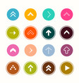 arrows flat design arrow collection in colorful vector image