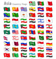 asian national flag set vector image vector image
