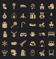 Baby thing icons set simple style