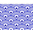 blue and white chinese pattern vector image vector image