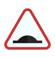 Bump ahead vector image