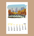 calendar sheet new york september month 2021 year