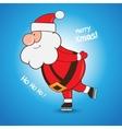 Cartoon Santa Claus skating greeting Christmas vector image vector image