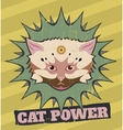 Cat power vector image vector image